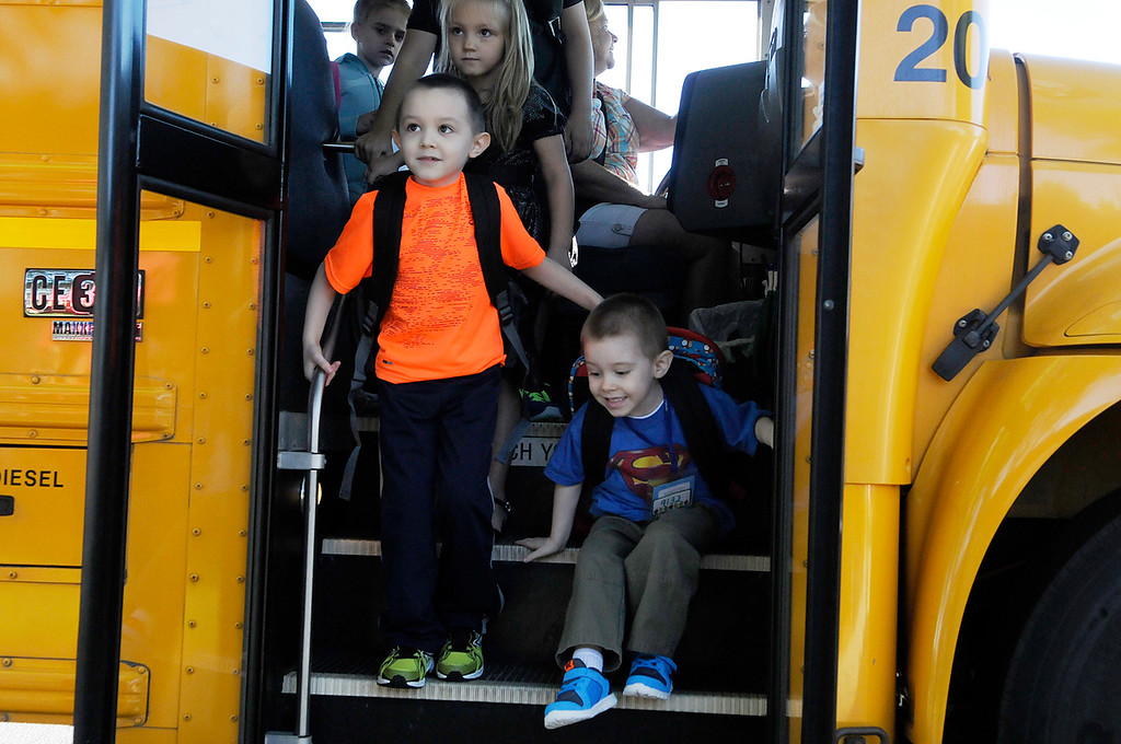 . Ballard Road Elementary School held their first day of classes for South Glens Falls School District Wednesday morning. Saratoga Springs also had their first day of classes.Photo Erica Miller/The Saratogian 9/4/13 news_FirstDay3_Thurs