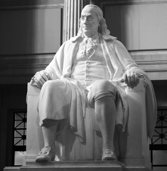 Ben Franklin's statue at the Franklin Institute