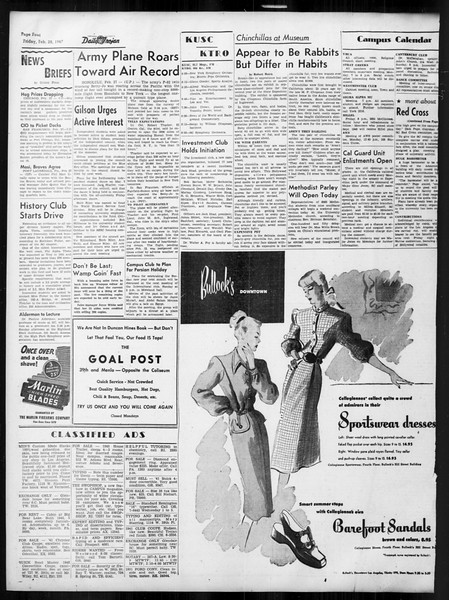 Daily Trojan, Vol. 38, No. 85, February 28, 1947