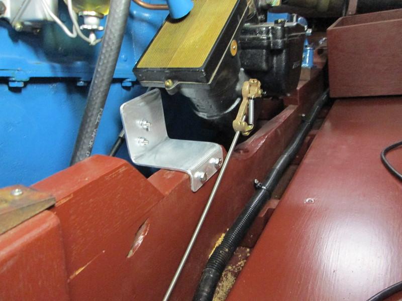 Custom made throttle bracket.
