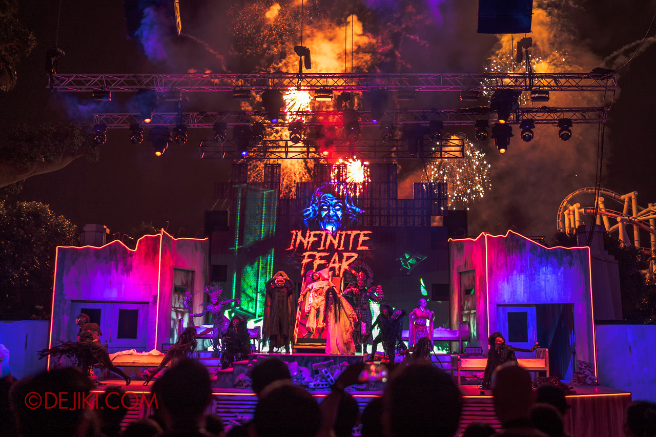 Universal Studios Singapore Halloween Horror Nights 8 - Infinite Fear Opening Scaremony Pyrotechnics Finale