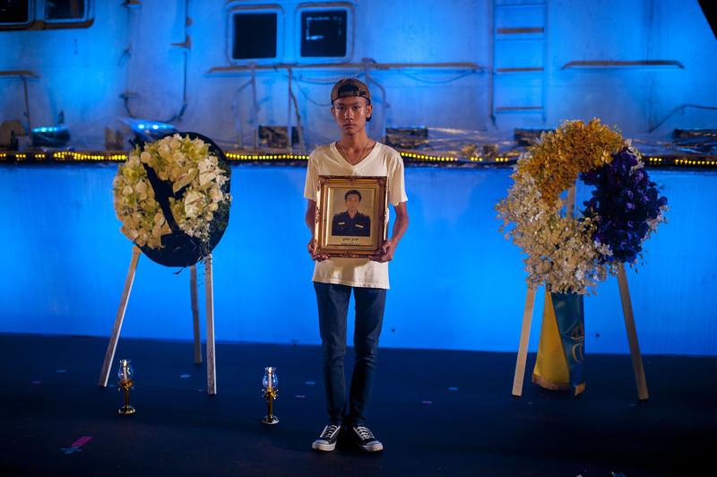 ". An attendee holds a picture of his father who died during the 2004 Tsunami after the Remembrance Ceremony ""Ten Years on: Remembering the Indian Ocean Tsunami\"" at the Police Boat T813 Tsunami Memorial on December 26, 2014 in Khao Lak, Thailand. Thailand remember the 10th anniversary of the 2004 Indian Ocean earthquake and tsunami that killed more than 220,000 people across 14 countries, making it one of the deadliest natural disaster in recorded history.  (Photo by Borja Sanchez-Trillo/Getty Images)"