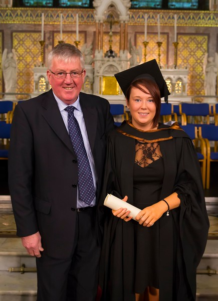 Waterford Institute Of Technology Conferring. Pictured at WIT Waterford Institute Of Technology Conferring is Catherine Fitzharris who graduated Bachelor of Arts (Honours) Social Care. Also pictured is Willie Fitzharris. Picture: Patrick Browne
