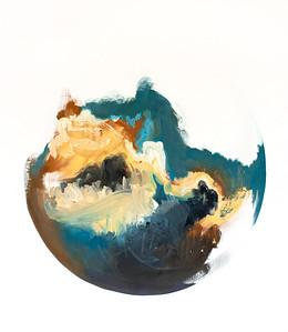 """""""Clouds II"""" (oil on canvas) by Hayen Kim"""