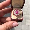 3.27ctw Burma No-heat Ruby Cluster Ring, GIA cert 6