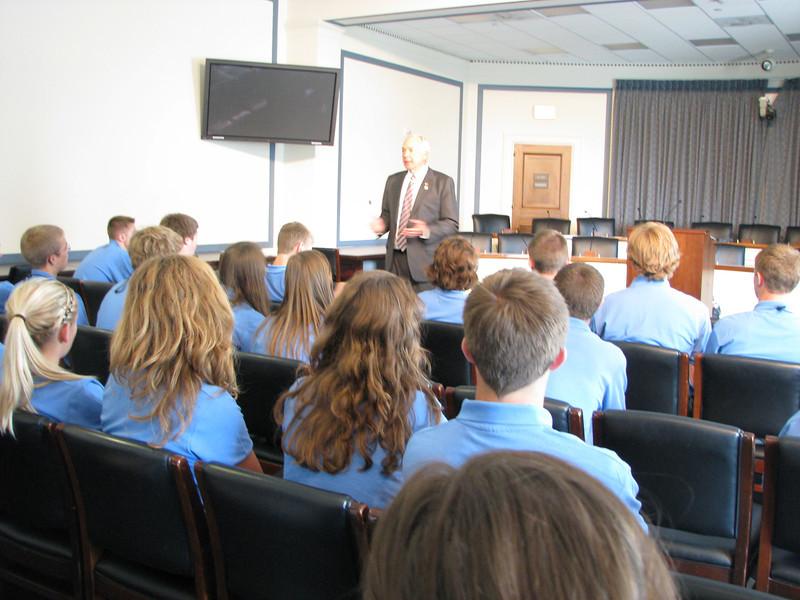 Representative John Kline gave an excellent talk!