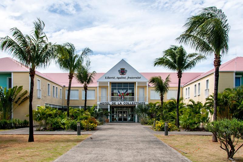 Hotel facade in Gustavia, St. Bart's