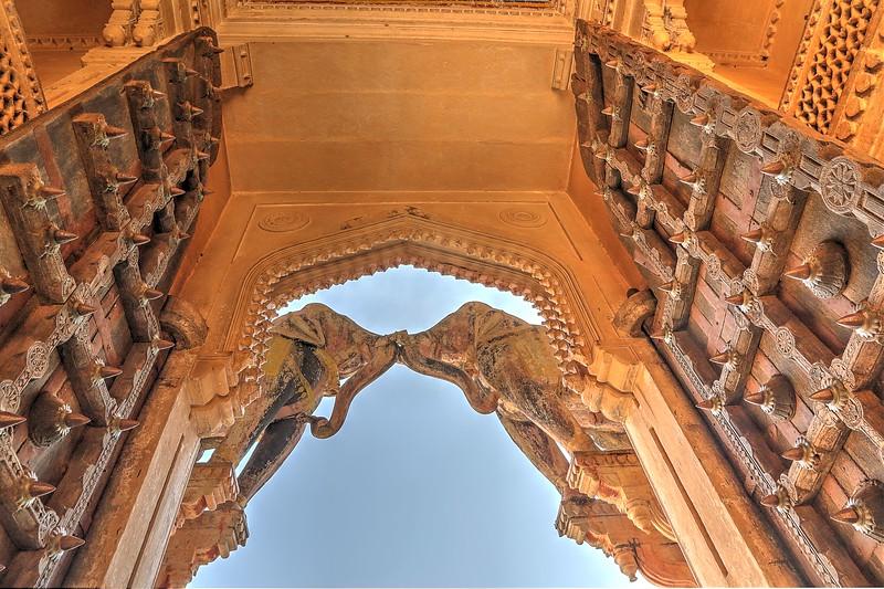 Elephant Gate at Bundi Palace