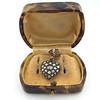 Victorian Revival Heart and Bird Rose Cut Diamond Pendant 12