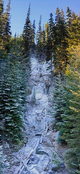 Hurley 06 vert pan (Sloan Creek waterfall)