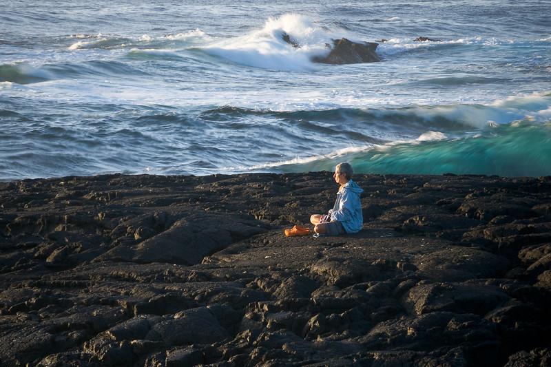 Meditation at Punalu'u, Hawai'i