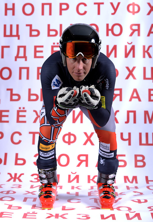 . Alpine skier Marco Sullivan poses for a portrait during the USOC Media Summit ahead of the Sochi 2014 Winter Olympics on September 29, 2013 in Park City, Utah.  (Photo by Harry How/Getty Images)