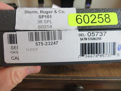 RUGER SP101 .38 SPECIAL