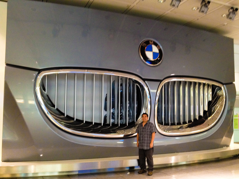 Huge BMW at the Munich Airport