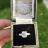 2.03ct Emerald Cut Diamond Ring, GIA K IF 10