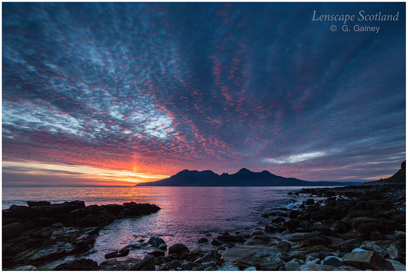 Red Rhum sunset, from Laig Bay