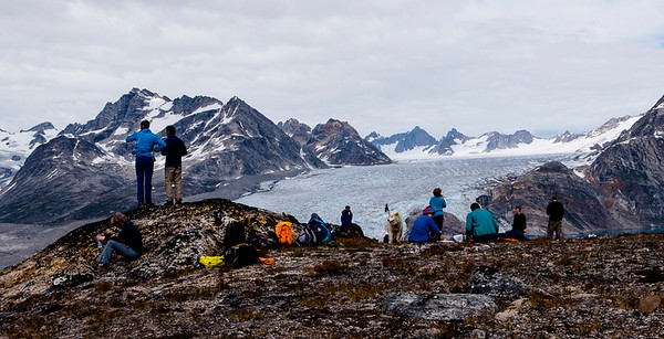 Day 5 - along the shores and up a hill to overlook of five glaciers
