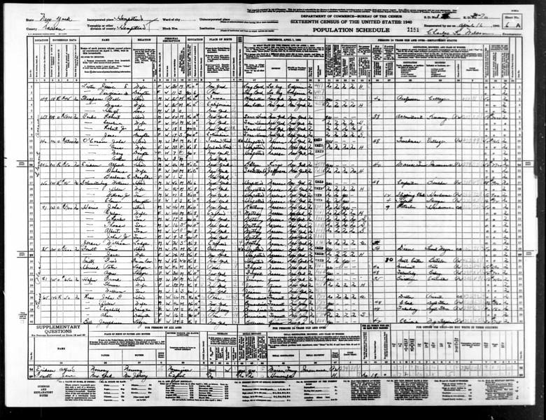 1940 census Anna Toole OConnor family Hempstead NY.jpg