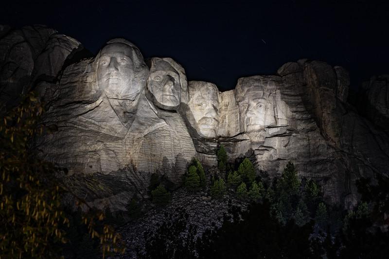 Mt. Rushmore, night