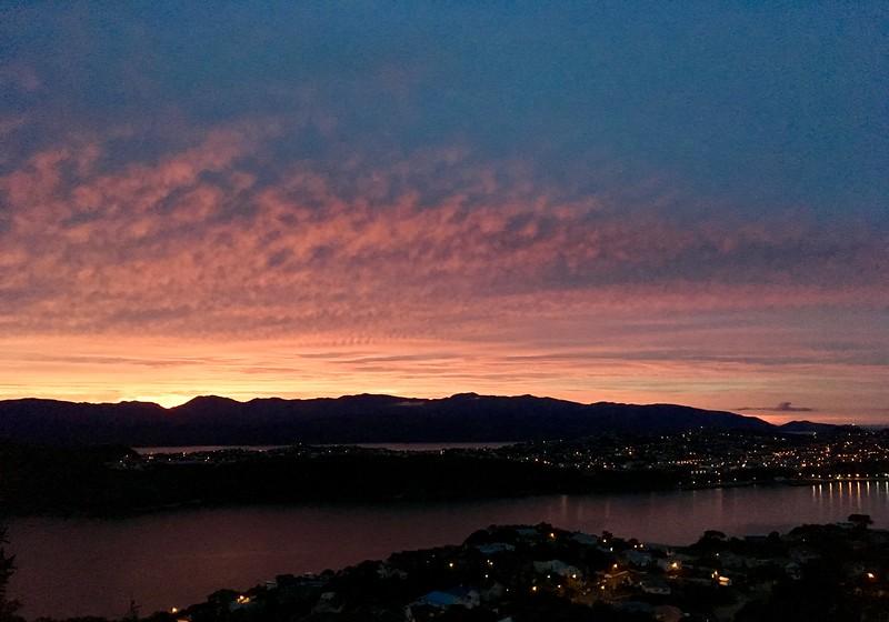 Fiery sunrise!
