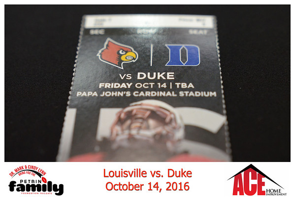 Friday Oct 14th, 2016. UofL vs Duke