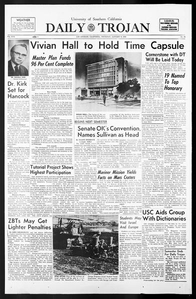Daily Trojan, Vol. 57, No. 61, January 06, 1966