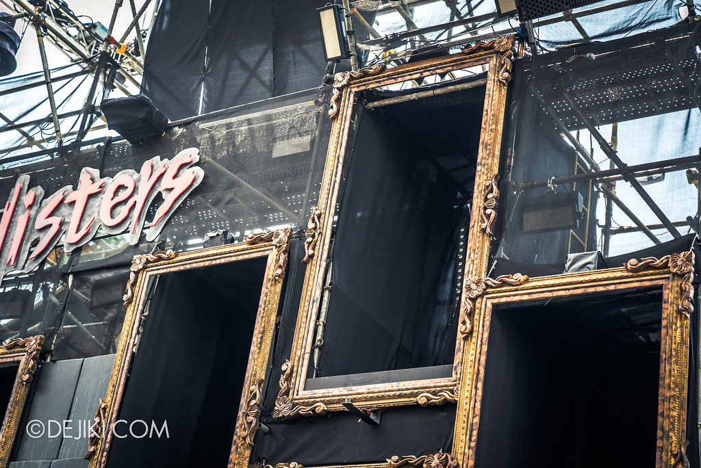 Halloween Horror Nights 7 Preview Construction Update Before Dark 4 - 7SINisters Stage LIGHTS