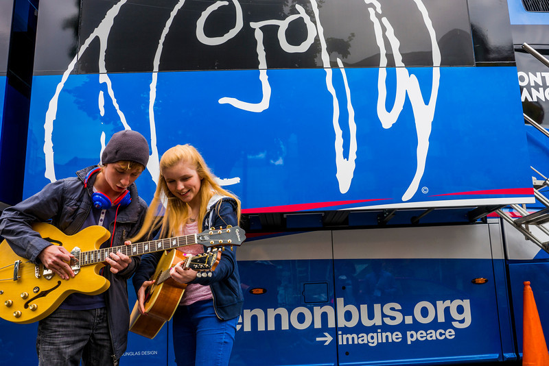 2013_08_07, Dublin, Ireland, Student Recording Session, Student Session, Music Generation, lennonbus.org, eu.lb.org, JLETB, The National Concert Hall, EU, Gibson, Epiphone
