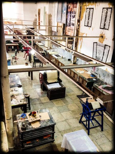 Print studio in Havana Vieja
