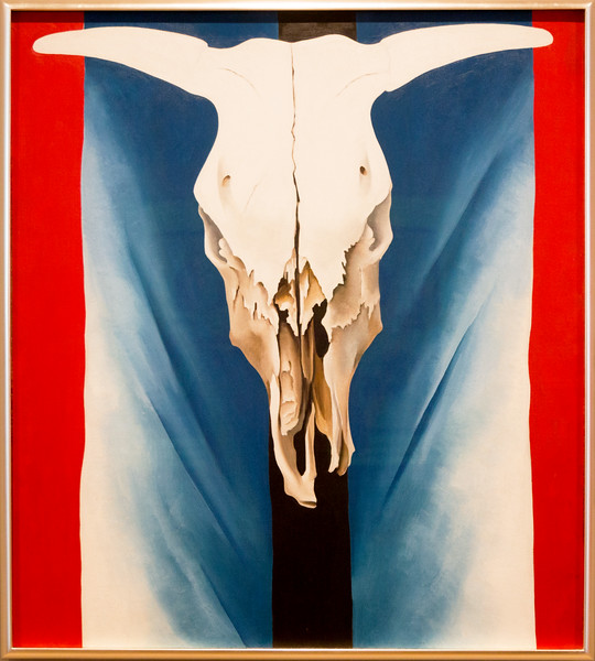 "Georgia O'Keefe: ""Cow's Skull, Red, White, and Blue,""  1931."