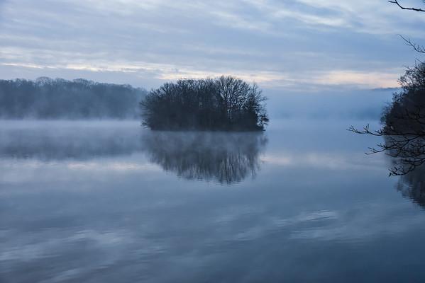 Steamy Morning Lake