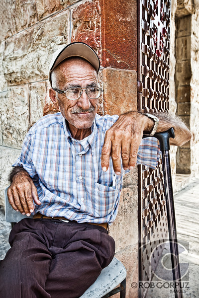 OLD MAN AT GETHSAMANE - Jerusalem, Israel