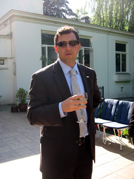 Chris, at the residence of the U.S. Deputy Chief of Mission in The Hague