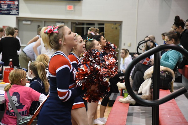 Cheerleaders - York Basketball game