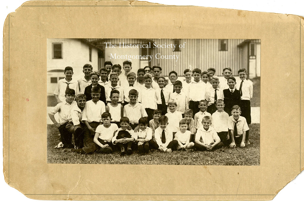 . This photo from the Historical Society of Montgomery County shows Times Herald newsboys in 1922 at Normandy Farm.