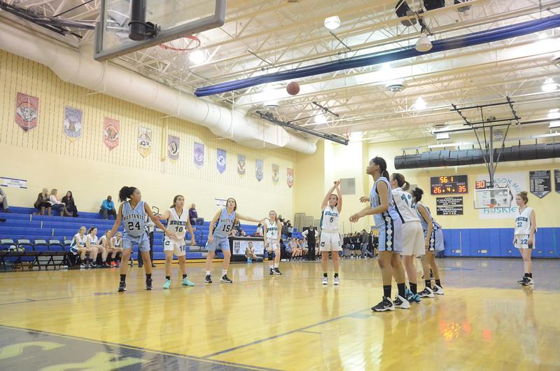 Girls JV Basketball January 10 vs C. Milton Wright