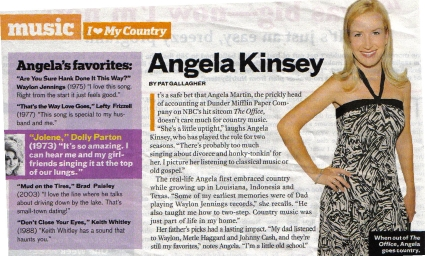 Angela Kinsey The Office Country Weekly