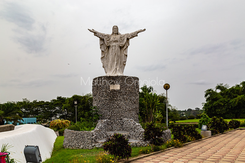 Statue of Jesus Christ at St. Paul's Roman Catholic Cathedral Abidjan Cote d'Ivoire, Ivory Coast.