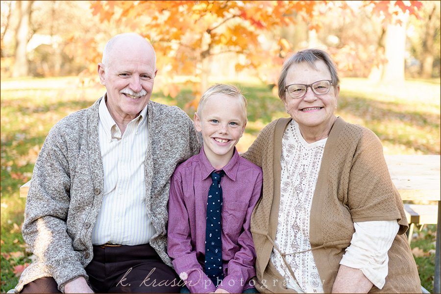 James with grandparents