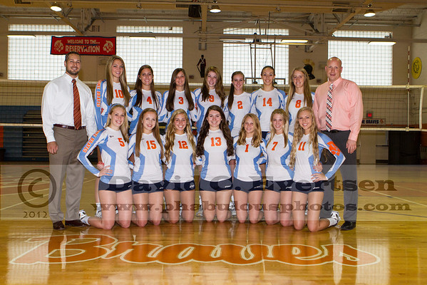 Girls Volleyball Team Pictures - 2012