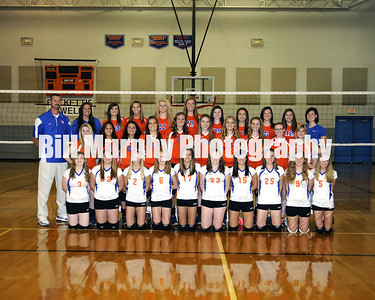 2013 Marshall County High School Volleyball Team, August 16, 2013.