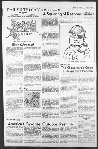 Daily Trojan, Vol. 58, No. 69, February 13, 1967