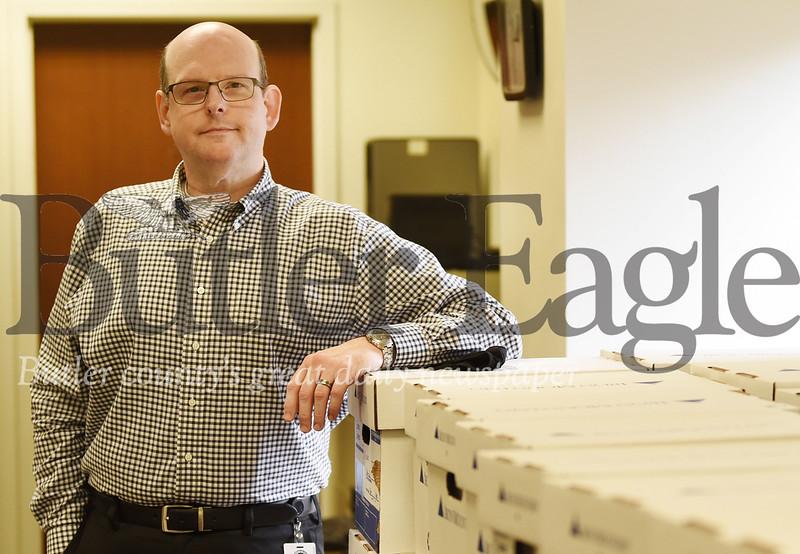 Harold Aughton/Butler Eagle: Aaron Sheasely, new bureau of elections director for Butler County.