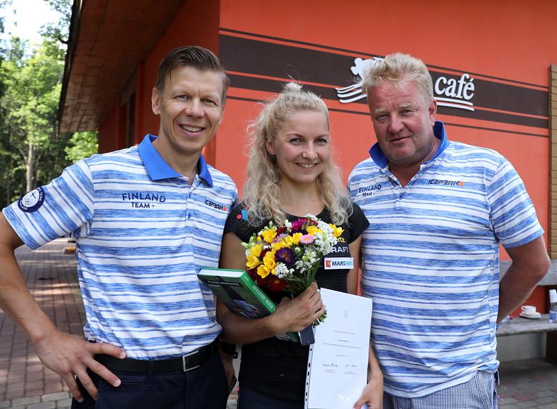 (vas.) Mikko Salonen, Marika Teini ja Olli-Pekka Kärkkäinen