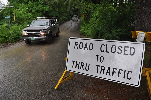 Bee Hill Road closed after rainstorm caused damage