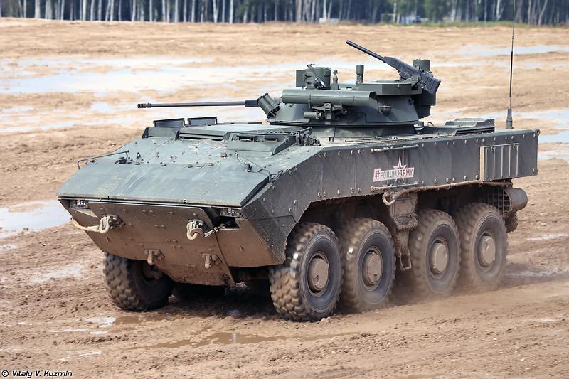 БМП-К К-17 с обитаемым боевым модулем Б05Я01  Бережок на платформе ВПК-7829 Бумеранг (Wheeled IFV BMP-K K-17 with B05Ya01 Berezhok turret on platform VPK-7829 Bumerang)