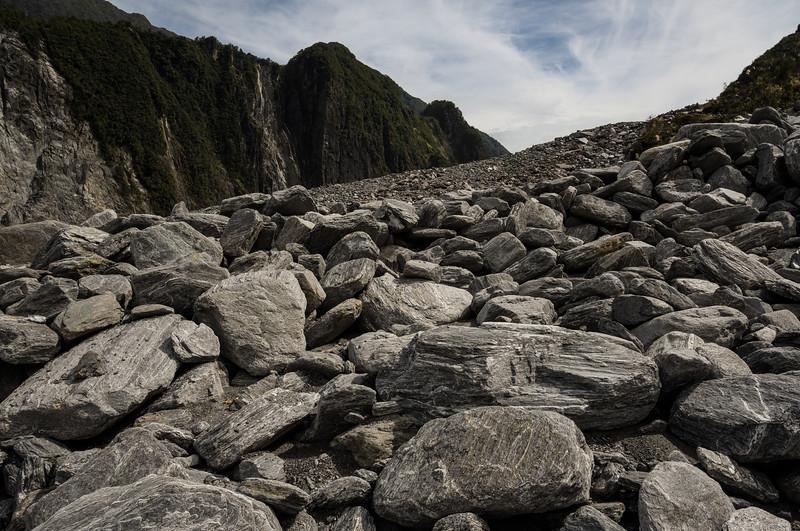 Fox Glacier scree slope