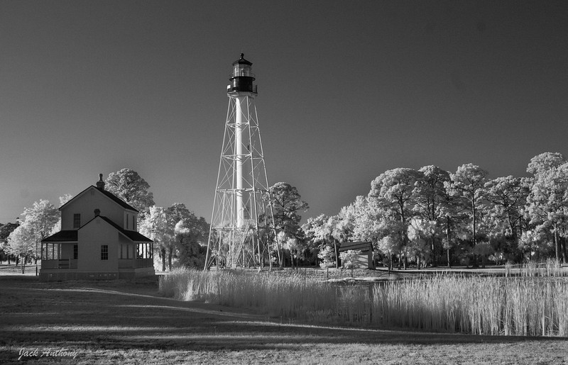 Port St. Joe lighthouse in infrared