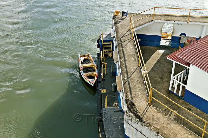 Tethering Row Boat at the Gatun Locks