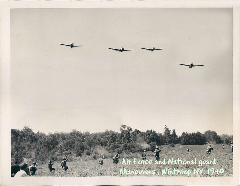 War game , Air Force and troops,  Aug 1940,  said Winthrop ny